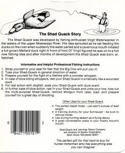 Virgil Casting the Shad-Quack