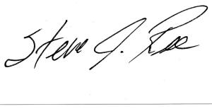 Steve Ree Signature